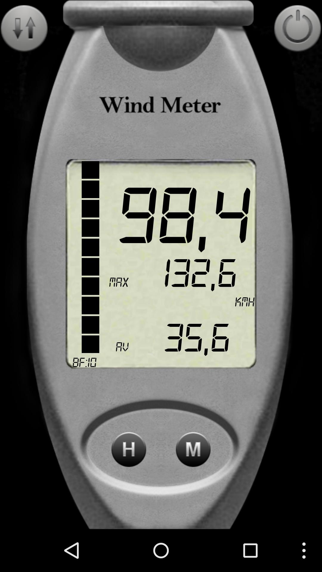Screenshot Windmeter